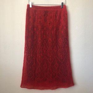 Long Knitted Super Soft  Skirt